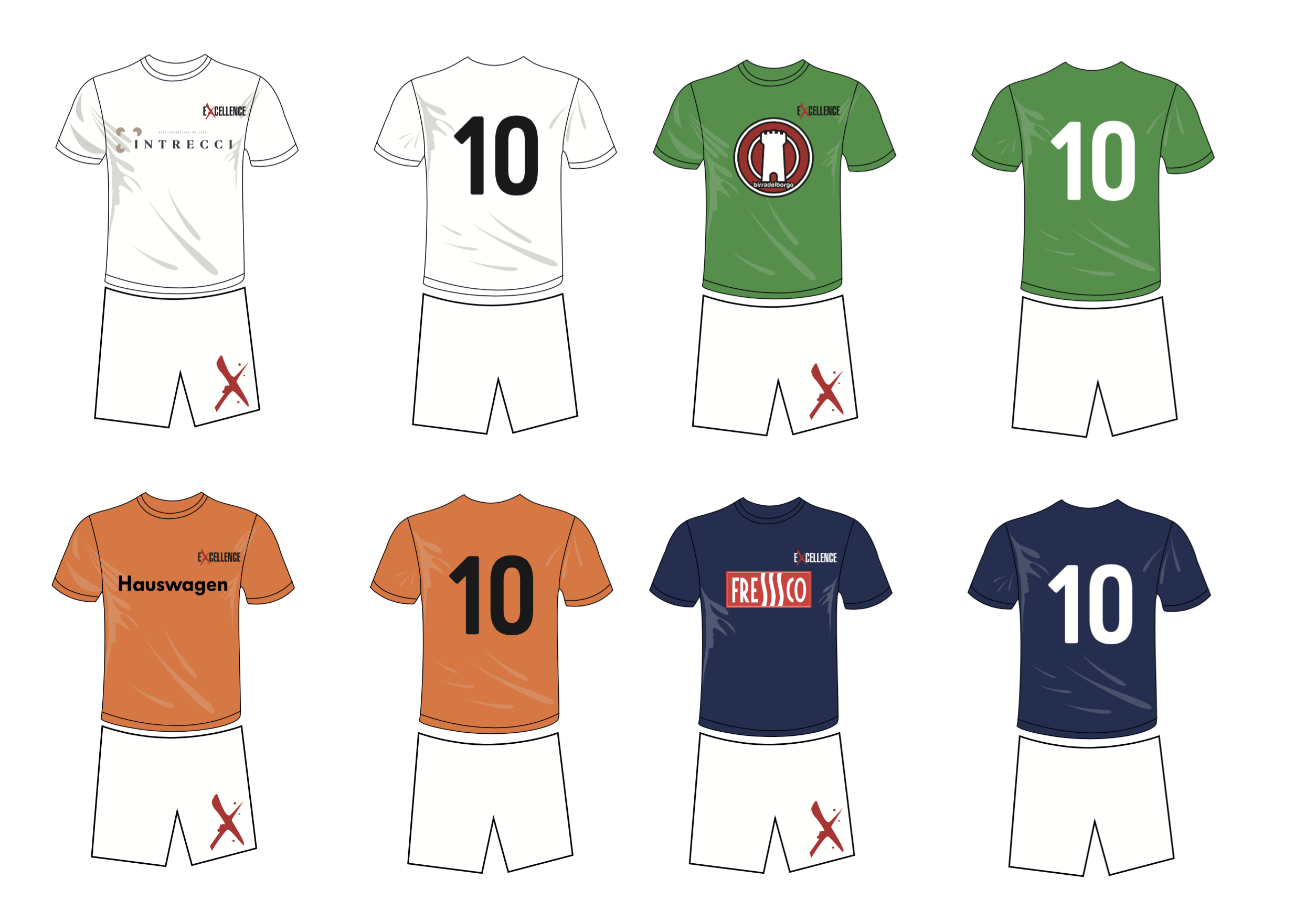 Le t-shirt di Excellence Foodball Cup