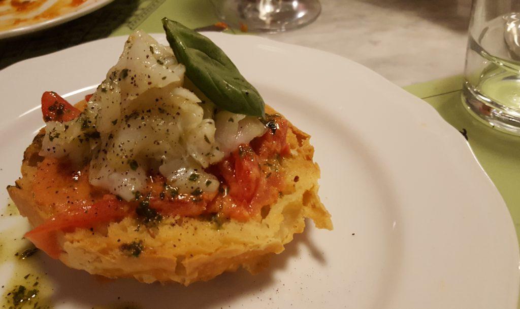 panzanella di baccalà