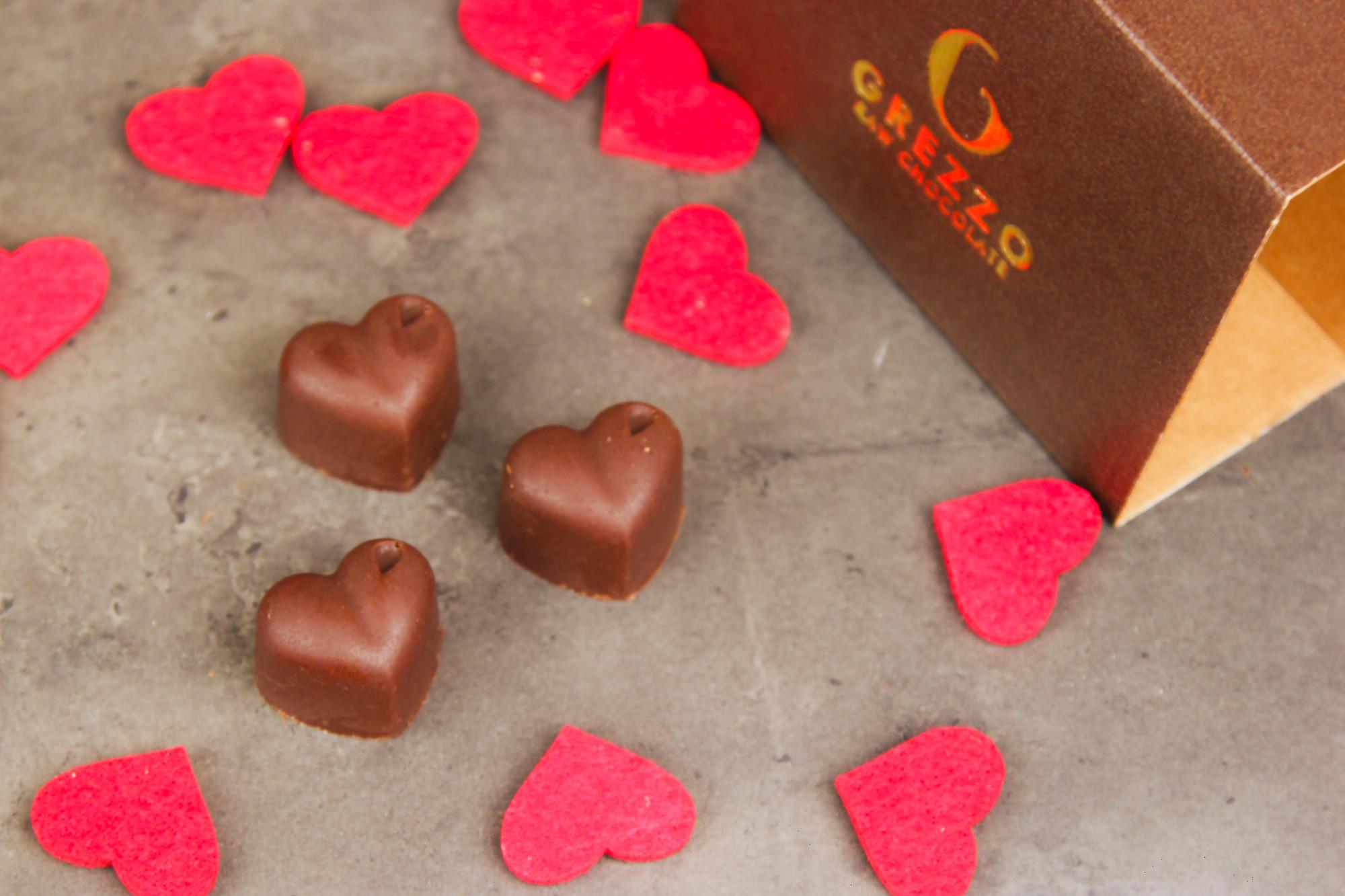 cuori di cioccolato morbido