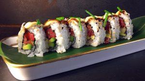 Be-Beef: l'uramaki con tartare di manzo del Gipsy Bar