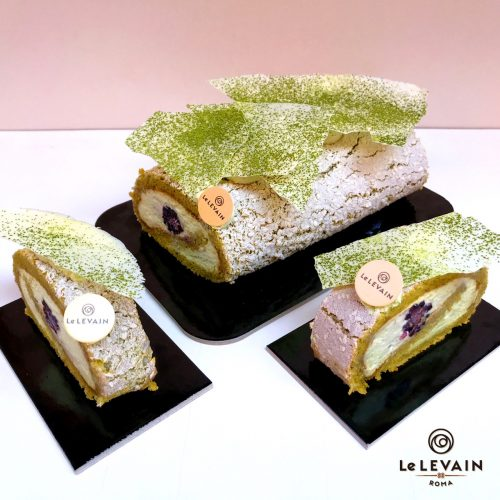 Bamboo, il dolce al tè matcha della pasticceria romana Le Levain