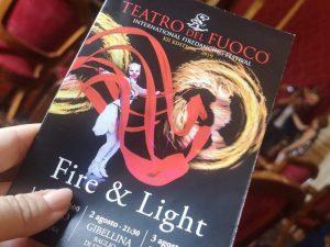 Il Teatro del Fuoco torna il Sicilia tra spettacoli e dieta mediterranea