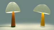 Pappardelle ai funghi? No, lampade ai funghi