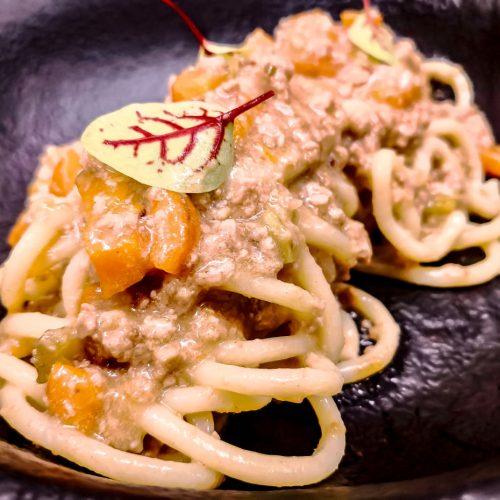Pici al ragù bianco di cinta senese, la ricetta perfetta di Matteo Militello